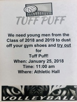 Tuff Puff Volleyball Try-outs