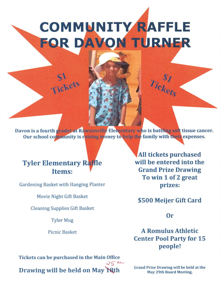 Community Raffle for Davon Turner
