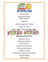 Spring Into Summer Activities Fair