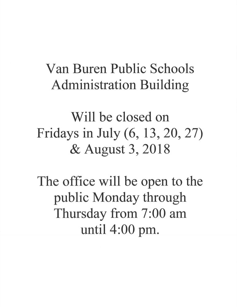 VBPS Administration Building Hours