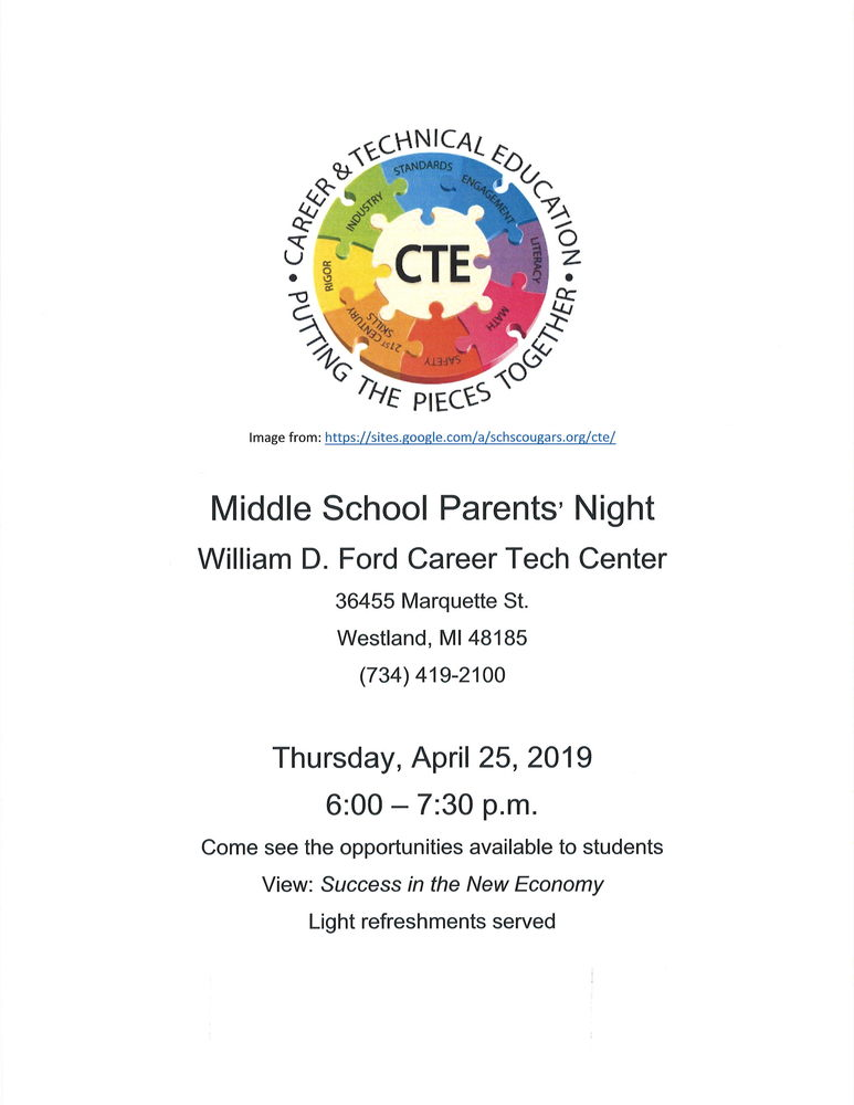 Middle School Parents' Night