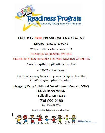 Great Start Readiness Program Wants You!