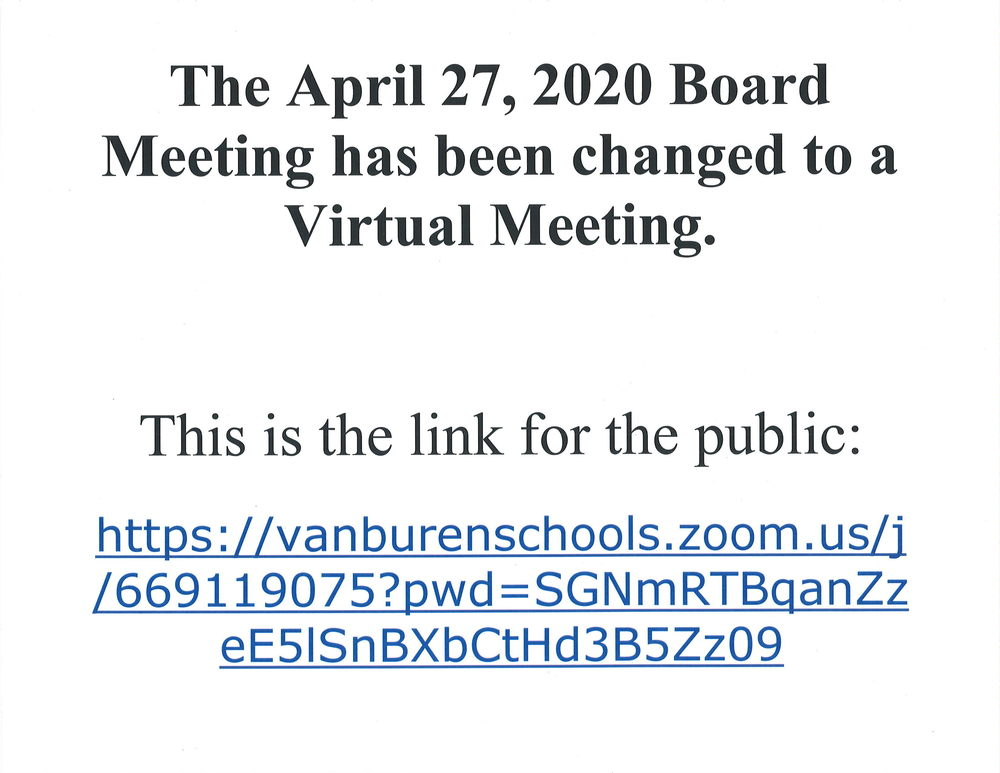 4-27-20 Virtual Board Meeting