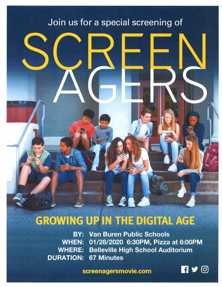 Viewing of Screenagers 1//28/20 at BHS Auditorium