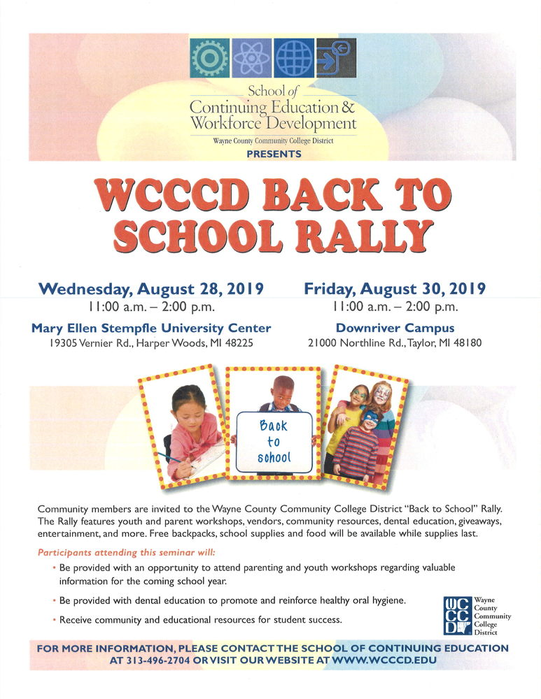 WCCCD Back to School Rally