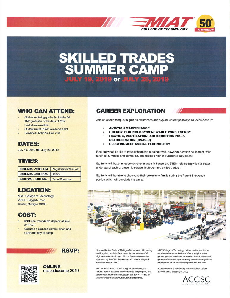 Skilled Trades Summer Camp