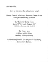 Happy Days Summer Camp