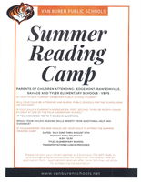 2019 Summer Reading Camp