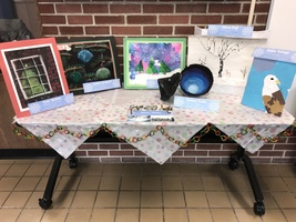 Winter Art Work at Administration Building