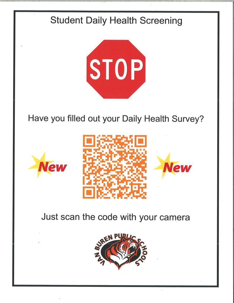 New COVID screener QR code