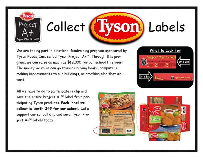 Tyson Labels For Education