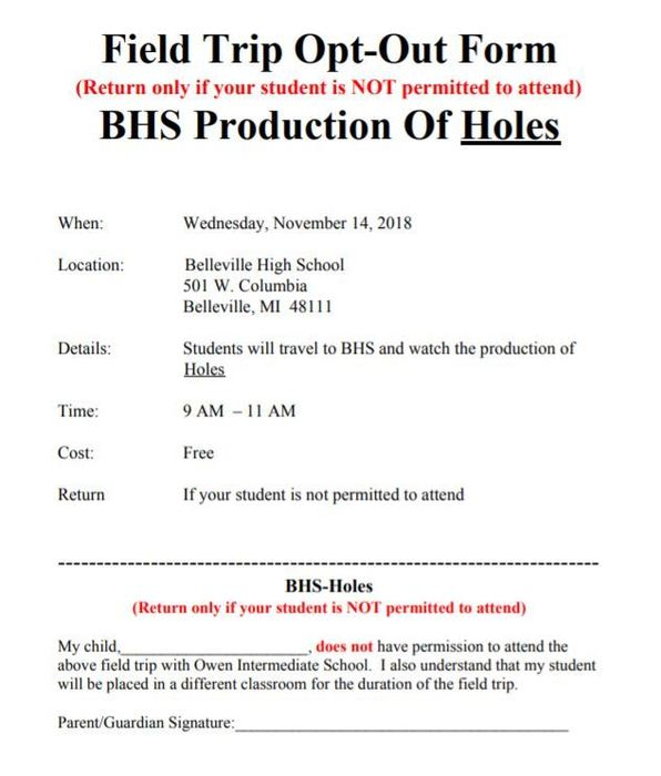 BHS Performance Note