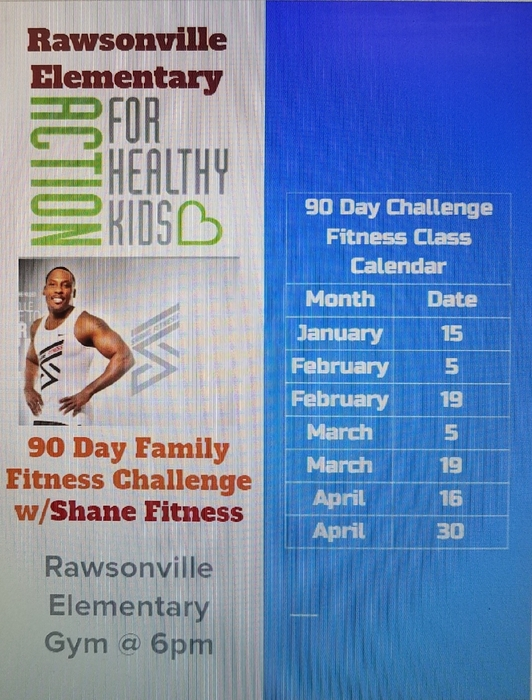 Family Fitness 90 Day Challenge Calendar