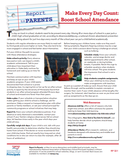 Parent Report-Attendance