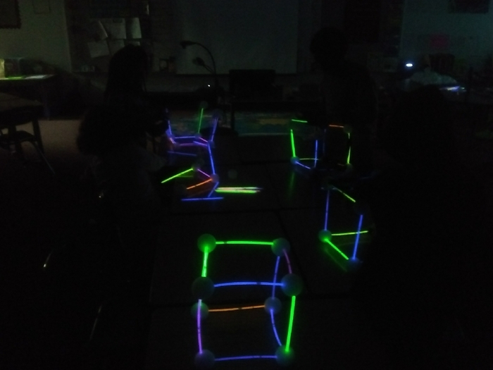 Glow in the dark geometry!
