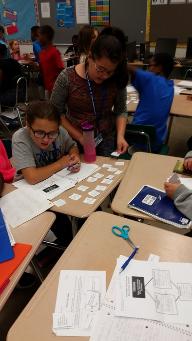 Playing power sort game to help learn the three levels of government.