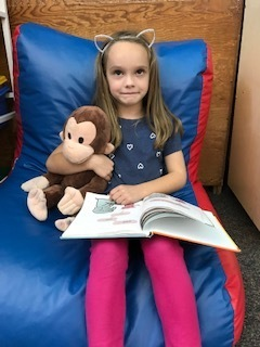 Reading with Curious George