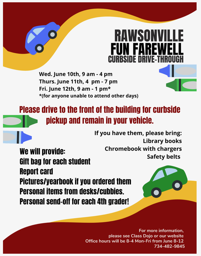 Any items not picked up after June 15th will be donated!