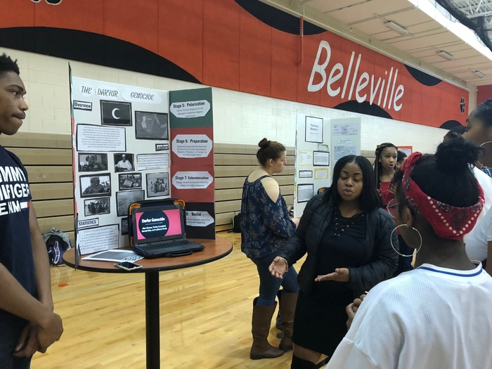 Students present at the Genocide Symposium.