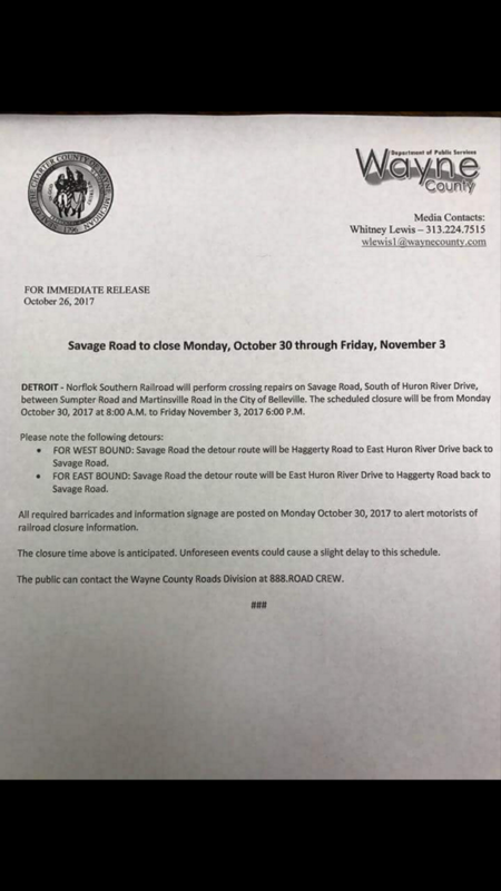 Savage Road Closure